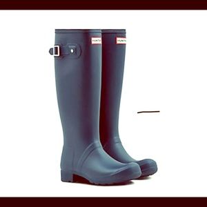 Hunter Refined Original Tall Navy Rain Boots